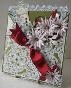 Heartfelt Creations - Decorative Corner Blossom  Repinned - pamscrafts
