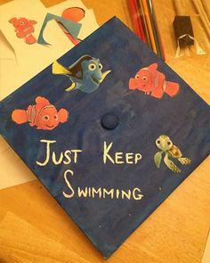 Disney Pixar DIY Graduation Cap Ideas! SO easy and cute!