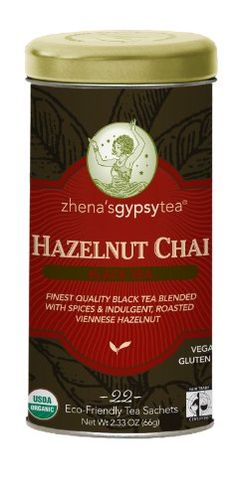 Zhena's Gypsy Chai Black Tea, Hazelnut, 22-Count (Pack of 3) -- Click image for more details.