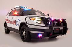 Ford Police Interceptor Utility, with lighting by Whelen Engineering