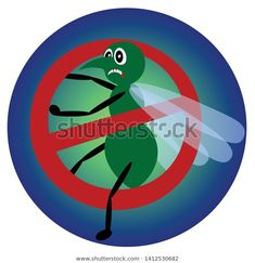 Mosquito Banned Bloodsucking Insect Behind Forbidden Stock Vector (Royalty Free) 1412530682 Insects, Royalty Free Stock Photos, Illustrations, Image, Illustration, Illustrators