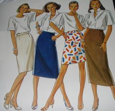 Straight+Skirt+PDF+Pattern+12+different+by+ElizabethCustomSkirt,+$5.50