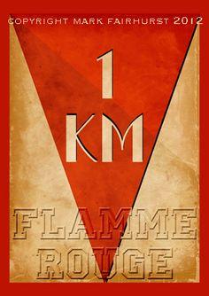 Flamme Rouge poster, Zeitgeist Images,