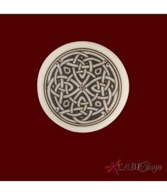 Celtic Spiritual Journey Porcelain Round Necklace by Touchstone Pottery TS-PS5R