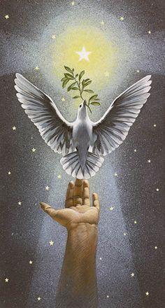 """""""Ascending Dove.""""  by Charlotte Joan Sternberg - Christmas Art.❤️"""