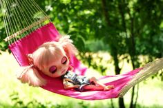 Summer Pink Hammock for Blythe Dolls 16 Scale by KassandraBox