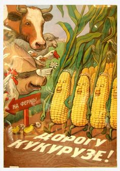 """""""Give Way To Corn!"""" Soviet Agricultural Propaganda, 1950s"""