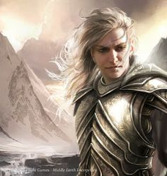 Magali Villeneuve Portfolio: The Lord of the Rings LCG : Glorfindel