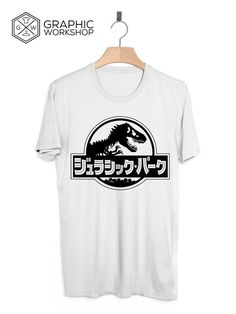 Japanese Jurassic Park T-Shirt // Logo Steven Spielberg 90s Film Vaporwave Aesthetic Pastel Goth Soft Grunge Tumblr Clothing Rare Limited                   In Graphic Worshop we take quality very seriously, and make every t-shirt on demand, specially for our customers. That gives us the opportuni...