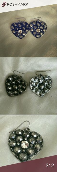 Unique Gypsy Studded Metal Heart Earrings Bought from a local shop (a.k.a. The Tipsy Gypsy) and, as much as I love them, I need money asap. Jewelry Earrings