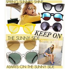 SPRING SUNNIES by cutandpaste on Polyvore featuring Tory Burch, Vivienne Westwood, Sunpocket, Thierry Lasry and Wildfox