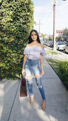Cute date outfits, classy outfits, jean outfits, trendy outfits, date o Outfit Jeans, Cute Outfits With Jeans, Girly Outfits, Classy Outfits, Chic Outfits, Trendy Outfits, Summer Outfits, Fashion Outfits, Work Outfits