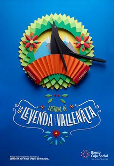 Fiestas y tradiciones colombianas BCS on Behance #handmade #design #paper craft
