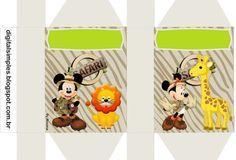 Moldes para Festa Infantil Mickey e Minnie Safari Grátis | Espaço Infantil