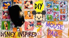 Diy Mouse Pad, Craft Tutorials, Craft Ideas, Disney Inspired, Fun Crafts, Awesome, Inspiration, Fun Diy Crafts, Biblical Inspiration