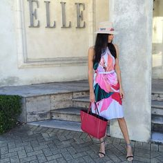 Elle Boutique styled Clover Canyon's Resort 2015 Collection Dancing Silk Halter Dress