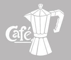 Ce pochoir adhésif repositionnable, de fabrication artisanale française dans une matière PVC grise souple, résistante et lavable, résiste à de multiples utilisations, s'adapte à la plupart des Stencils, Egyptian Art, Silhouette Cameo, Coffee Cups, Pattern, Silhouettes, Anna, Couture, Drawings
