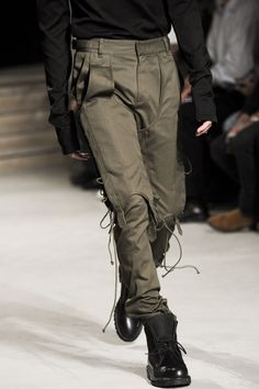 Utilitarian looks were also seen on the runway this fall, indicating again a larger shift of men's preferences. Garments that work with them throughout the day are more appealing than something that is going to restrict them. Looks such as these are being seen on Innovators and Early Adopters.