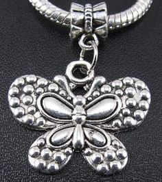 Awesome Tibetan Silver Butterfly Charm With Bail #221 $4.95