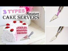 EASY Miniature Cake Servers Tutorial    Maive Ferrando - YouTube