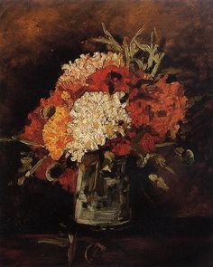 vase with carnations 2 Vincent van Gogh art for sale at Toperfect gallery. Buy the vase with carnations 2 Vincent van Gogh oil painting in Factory Price. Vincent Van Gogh, Van Gogh Art, Art Van, Flores Van Gogh, Van Gogh Flowers, Van Gogh Paintings, Impressionist Artists, Guache, Dutch Artists