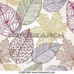 vendemmia, autunno parte, seamless, modello, fondo., EPS10, file. Visualizza la Grafica Clip Art ingrandita