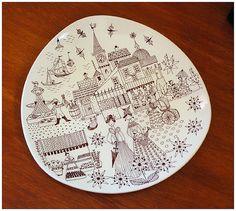 Stavangerflint plate by Inger Waage