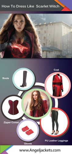 Get Scarlet Witch Costume look for #Halloween with this guide.