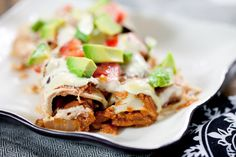 JACKFRUIT ENCHILADAS #vegan - enormous list of ingredients but looks good