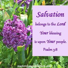 This Bible Verse about #Salvation reminds us God's blessing is upon His people. He alone saves us, comforts us, and lifts us up during difficult times.   #BibleVerses #Devotional Bible Verses For Hard Times, Bible Verses About Faith, Encouraging Bible Verses, Favorite Bible Verses, Psalms Quotes, Faith Quotes, Christian Women Blogs, Christian Life, Connecting With God