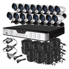 Zmodo 16CH H.264 Security DVR System 16 Sony Color CCD IR Outdoor Surveillance Cameras With 1TB Hard Drive by ZMODO. $659.99. Overview This kit KDH6-NASCZ6ZN includes a 16 CH H.264 DVR and 16 Sony Color CCD IR outdoor security cameras allowing you to monitor your home or office around the clock.  Remote PC & Smartphone Live View View live video streams directly from your supported PC or Smartphone running AndroidTM , iPhone®, iPad®, SymbianTM , Windows Mobile®. 1TB HDD Allow...