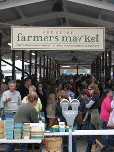 Farmers market in Ann Arbor