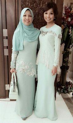 Q Dress Brokat, Kebaya Dress, Muslim Fashion, Modest Fashion, Fashion Dresses, Malay Wedding Dress, Muslimah Wedding Dress, Eid Outfits, Muslim Dress