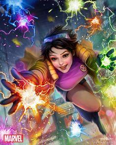 Marvel War of Heroes - Jubilee, HyunJoon Kim on ArtStation at https://www.artstation.com/artwork/marvel-war-of-heroes-jubilee