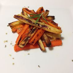 """Parsnip and carrot crispy baked """"fries"""""""