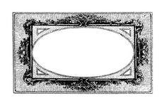 French Frame in black & white. #label #vintage