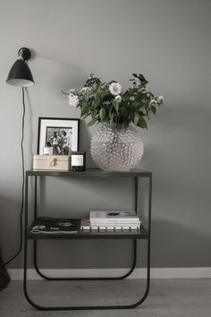 Nice black details in a modern Scandinavian living room or bedroom.