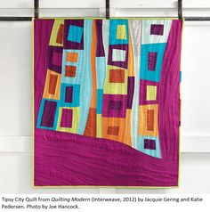 """""""tipsy city"""" by jacquie gering // gorgeous. love the quilting."""