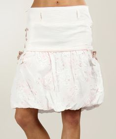 Look at this #zulilyfind! White Belt Loop Bubble Skirt - Plus Too by L33 by Virginie&Moi #zulilyfinds