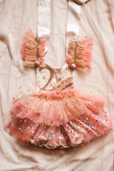Handmade by me with the most whimsical mix of materials. Soft fluffy tulle and soft polka dot tulle. The prettiest mix of blush and coral and rose. Little Girl Outfits, Cute Outfits For Kids, Little Dresses, Boho Fashion, Kids Fashion, Baby Birthday Cakes, 2nd Birthday, Im So Fancy, Cake Smash Outfit
