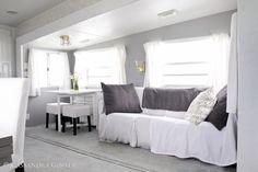 5th wheel camper makeover living room area