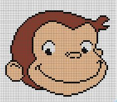 Curious George Pattern by Hugs are Fun WOULD LOVE TO MAKE IT USING PERLER BEADS INSTEAD