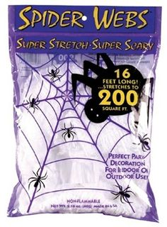 White Super Stretch Spider Web 60grm : Free Shipping & Low Prices at MagicNevin