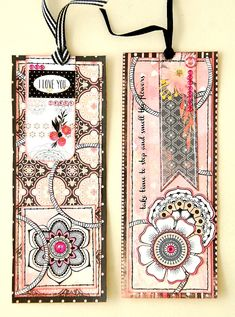 Scrapperlicious: Spring Bookmarks by Irene Tan using BoBunny products