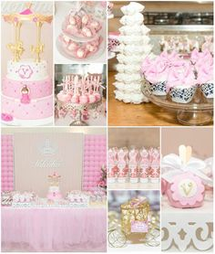 Ballet Themed 1st Birthday Party with SO MANY DARLING IDEAS via Kara's Party Ideas Kara'sPartyIdeas.com --I love the meringue tower in the background