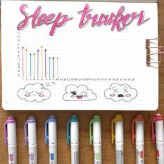 Bullet Journal Sleep Tracker Line Gragh
