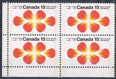 Maple leaf design as depicted on this 1971 issue commemorating Radio Canada International. Postage Stamp Design, Postage Stamps, Going Postal, Stamp Collecting, Orange, Detailed Image, Leaf Design, Graphic Design, Cool Stuff