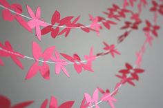 Items similar to red flower paper garland. on Etsy Paper Garlands, Flower Garlands, Old Christmas, Christmas Ideas, Christmas Ornaments, Diy Paper, Paper Crafts, Flower Paper, How To Make Ornaments