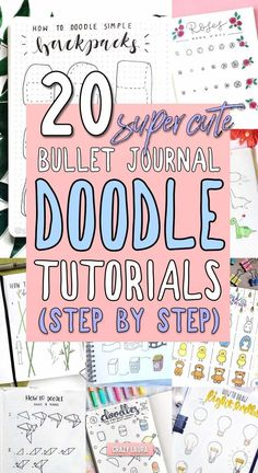 Step By Step Bullet Journal Doodle Tutorials - Crazy L.-Step By Step Bullet Journal Doodle Tutorials – Crazy Laura - Doodle Bullet Journal, Bullet Journal Ideas Pages, Bullet Journal Inspiration, Examples Of Bullet Journals, Bullet Journal With Stickers, Bullet Journal Tools, Bullet Journal Savings, Bullet Journal Decoration, Bullet Journal Travel
