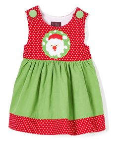 Dress your little one with standout style and endless comfort in this lovely dress designed with chic color blocking and colorful appliqué front.